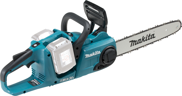 Makita Li-ion 36v DUC353 Brushless Chainsaw with 2 x 5Ah Batteries and Twinport Charger