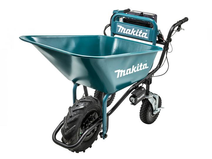 Makita Li-ion 18v DCU180 Wheelbarrow with Bucket Frame Set